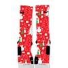 Custom Nike Elite Socks Ugly Sweater Red Snowman