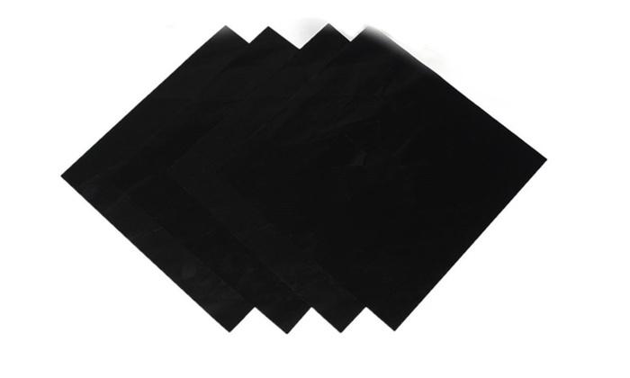 Reusable Black Foil Gas Range Hob Stovetop Nonstick Protector LinER