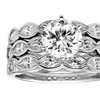 STERLING SILVER ROUND CZ BRIDAL 3-PC RING SET - 2 3/4 CTTW