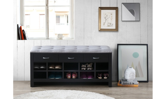 Eason Entryway Bench With Shoe Storage Compartments