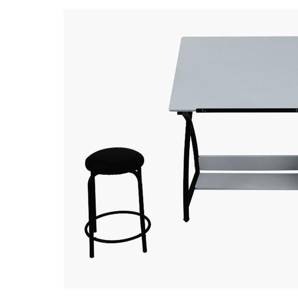 Terrific Studio Comet Center With Stool Black White Bralicious Painted Fabric Chair Ideas Braliciousco