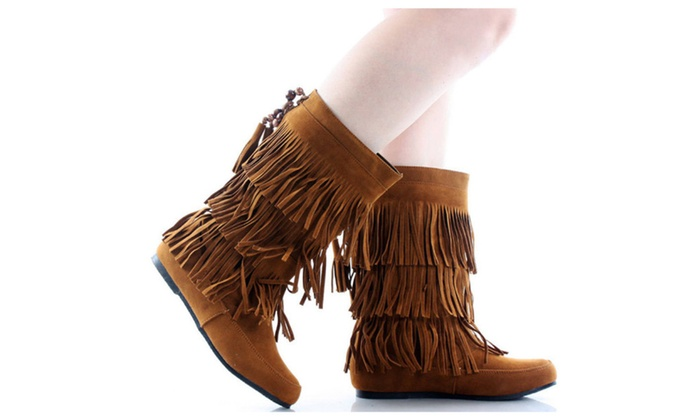 Lima Moccasin Fringe 3-Layer Boots