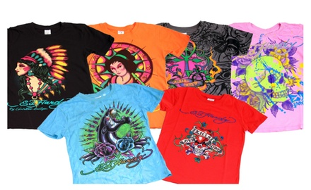 Girls Ed Hardy Kids Printed T-Shirts In Assorted Colors & Prints