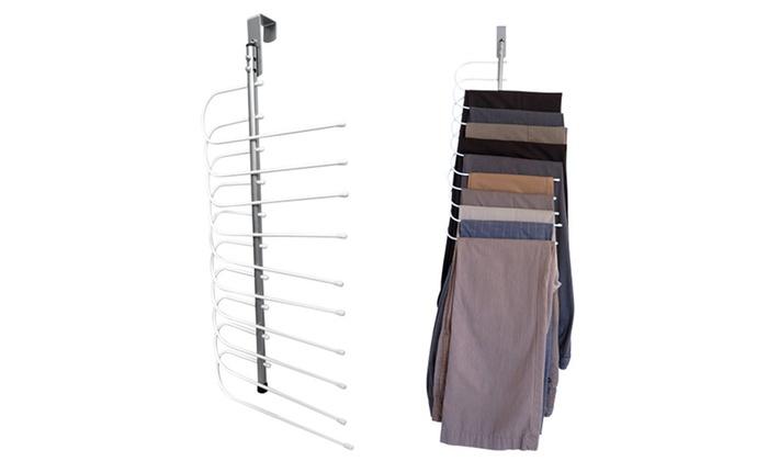 evelots over the door space saving cascading pants hanger