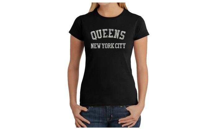 Women's T-Shirt - POPULAR NEIGHBORHOODS IN QUEENS, NY