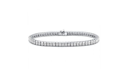 5.00 ct Princess Cut Diamond Tennis Bracelet in Channel Setting