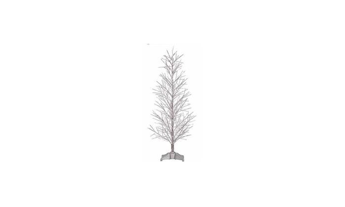 3' Pre-Lit Silver Fiber Optic Xmas Twig Tree - Multi