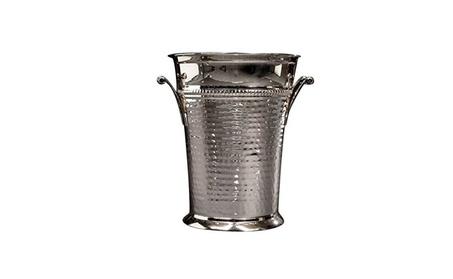 Elegant Brass Champagne Bucket Hammered Wine Bottle Cooler Large 996afa4d-b344-4dd0-9266-0a60b00c8616