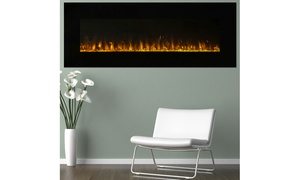 Electric Fireplace Wall Mounted, LED Fire and Ice Flame, w/ Remote by Northwest