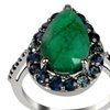 5.44 CTTW Genuine Ruby, Sapphire and Spinel St. Silver Ring