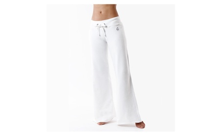 Green Apple Active Bamboo Palazzo Pants in White 5ed28f27-4578-41d7-85da-df54a521adef