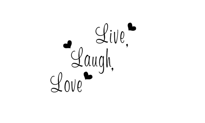 Up To 60% Off On Live Laugh Love Quotes Remova Groupon Goods Classy Live Laugh Love Quotes