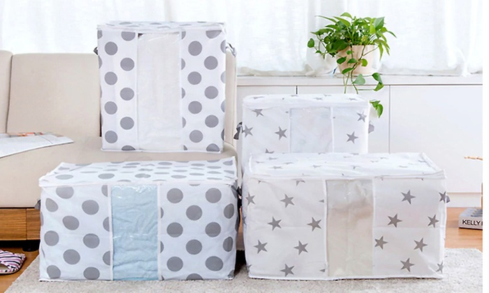 ... Portable Blanket And Seasonal Clothes Organizer Bag With Window ...
