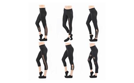 Women's Mesh High Waist Leggings Skinny Workout Yoga Pants 5101e5b2-2c87-4c06-99d4-22c4a47c62e4