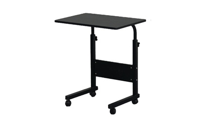 Removable Side Table Computer Desk with Baffle Black