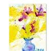 Sheila Golden Purple Blooms in Sunlight Canvas Print