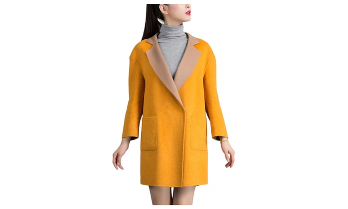 DPN Women's 2015 Autumn Fleece Solid Color Shells Coats
