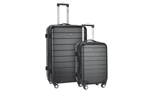 Wrangler Expandable Spinner Luggage Set with Cup-Holder, USB Port (2-Piece)