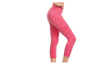 Pink Tummy Control Activewear Capris 51c7070d-893f-48c0-91b5-b8f916ec458f