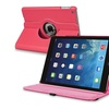 Insten For iPad Air 360 Rotating Swivel Stand Leather Case Hot Pink