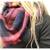 Oversized Fall Plaid Blanket Scarf - 2 Colors