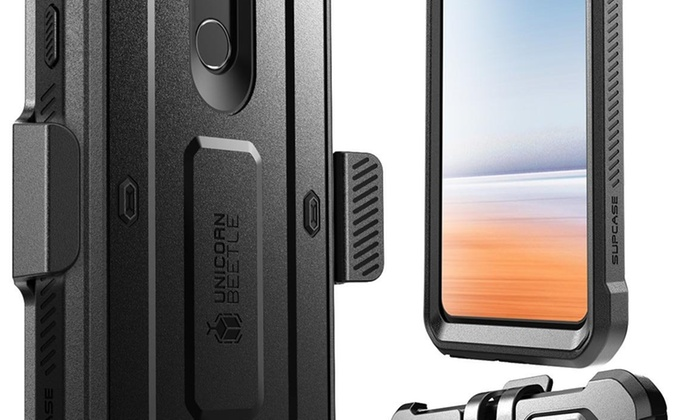 LG G7 ThinQ Case Rugged Holster Case with Built-in Screen