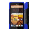 Insten Hard Hybrid Silicone Case stand For ZTE Speed Black Blue