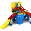 Velocity Toys Gas Station Kid's Pretend Play Toy Track Vehicle Playset