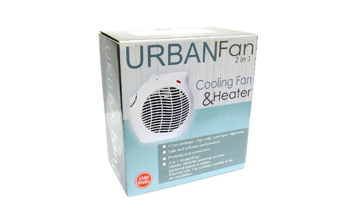 Buy It Now : Urban Fan 2 in 1 Heater & Cooling Fan Perfect for Winter and Summer