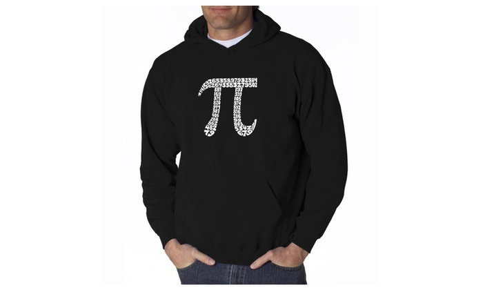 Men's Hooded Sweatshirt - THE FIRST 100 DIGITS OF PI