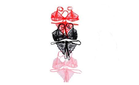 Sexy Women's Bikini Bra String T-back Set Lingerie Blossom 657fb7dc-9e31-4ec0-bf6b-ce221e58231b