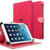 Insten 10-Inch Universal Stand Leather Case For iPad 4 3 2 1 Pink Red
