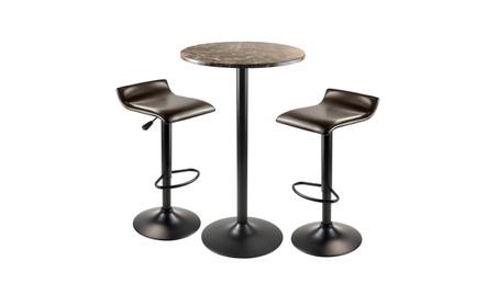 Winsome Cora 3 Piece Round Pub Table with 2 Swivel Stools a5b8ab06-10a7-4e27-a039-eeda3b9dc66d