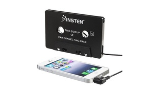 Insten Universal Car Audio Cassette Adapter,Black for Music Cell phone