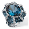 Blue Crystal Ring Made with SWAROVSKI ELEMENTS
