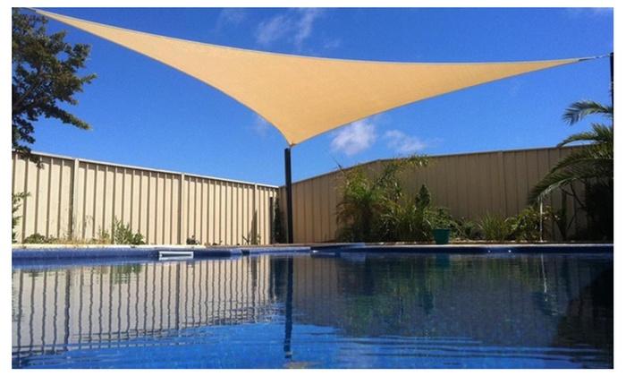 Apontus 16x16x16 Triangular Triangle Sun Sail Shade Patio Deck
