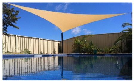 Apontus 16x16x16 Triangular Triangle Sun Sail Shade Patio Deck 333a78a5-1b04-4895-a1b2-7a346c740589