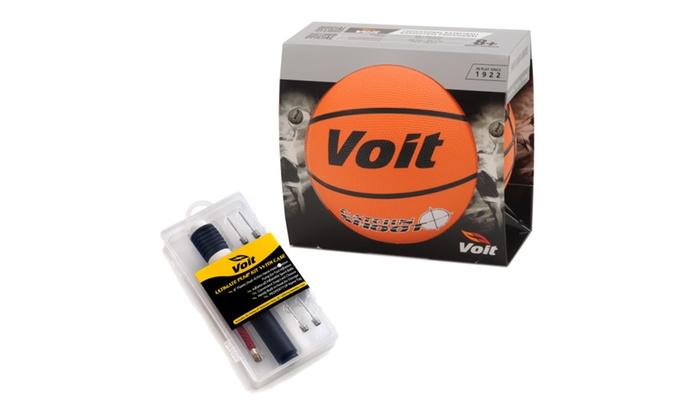 Voit Size 7 Catch and Shoot Rubber Basketball Deflated
