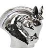 Ceramic Nodding Horse Head Polished Chrome Finish