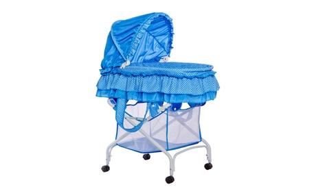 Dream On Me, Layla 2 in 1 Bassinet To Cradle, Blue f69444e4-e2f1-429e-b352-b5d157f34d66