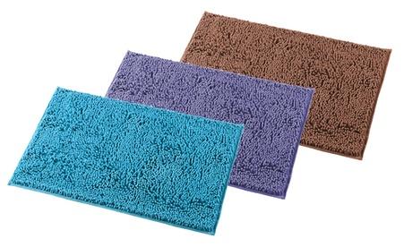 Absorbent Soft Bath Mat Rugs Carpet Shaggy No Slip Bathroom Shower Home Floor