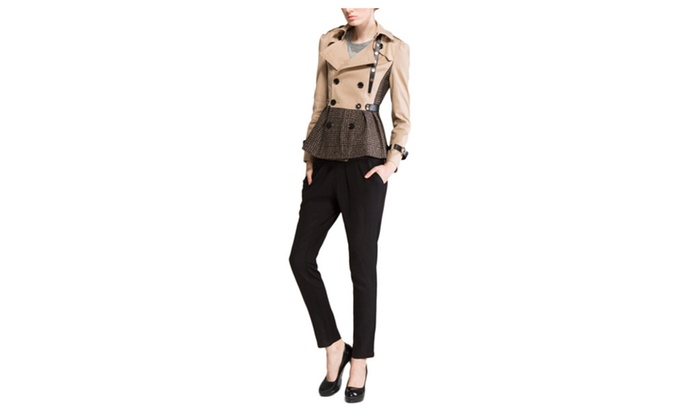 DPN Elegant British Long Trench Coat Jacket Clothes for Women