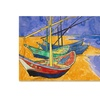 Vincent Van Gogh Fishing Boats on the Beach Canvas Print