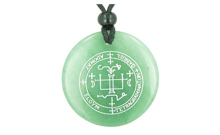 Sigil of the Archangel Gabriel Magical Amulet Magic Gemstone Spiritual Powers Pendant Necklace