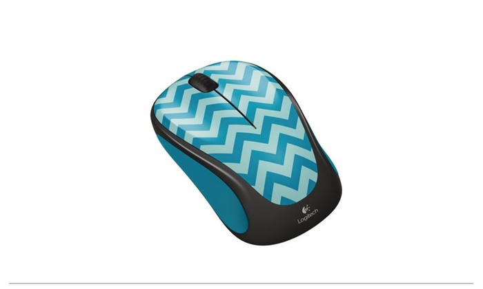 b2970bef030 Logitech Wireless Mouse M317c Color: Teal Chevron | Groupon