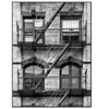 Fire Escape, Stairway on Manhattan Building by Philippe Hugonnard