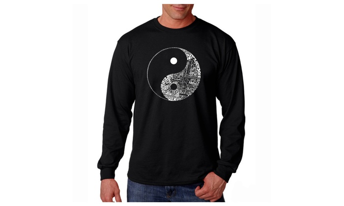 Men's Long Sleeve T-shirt - YIN YANG