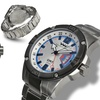 Weil And Harburg Leade Mens Watch Silver/Silver/White/Blue