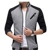 Men's Fashion Fitted Lightweight Jacket Zipped Stand Collar Outwear
