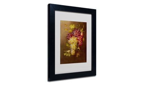 Rio 'Still Life with Grapes' Matted Black Framed Art 73ec6abf-0cd8-4759-ad25-77f1914ca3e0